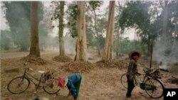 Warga desa yang tinggal di sekitar kawasan hutan di Kamboja yang jadi sasaran pembalakan liar (foto: dok).