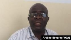 Eric Mampouya à Brazzaville, le 12 juin 2018.(VOA/Arsène Séverin)