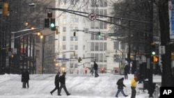Χιόνι στην Ατλάντα της Τζώρτζια