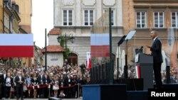 Выступление Барака Обамы на Замковой площади в Варшаве