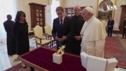 """教宗""""友好氣氛中""""會見布林肯 曾因中國宗教問題拒見"""