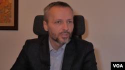 Aleksandar Olenik, predsednik Građanskog demokratskog foruma (Foto: Rade Ranković, VoA)