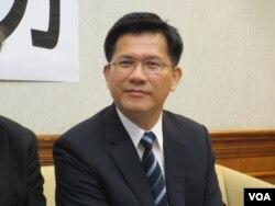 台湾在野党民进党立委林佳龙(美国之音张永泰拍摄)