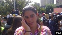 Ana Karina García en conversación con la Voz de América.