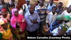 Trabalhadores da extinta empresa avícola em Nampula manifestaram-se, exigindo indemnizações. Moçambique, Nov 14, 2016