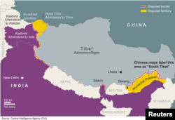 The border disputes between China and India.