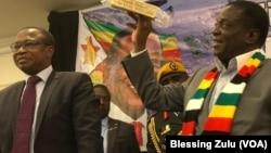 Zimbabwe President Emmerson Mnangagwa and Finance MInister Mthuli Ncube.