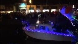 Божиќна парада на бродови