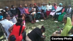 A group of village women meet at a coffee ceremony to discuss family planning and access to contraceptives. (Photo Credit: Marie Stopes International, Ethiopia)