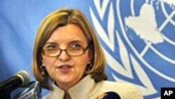 Karin Landgren, représentante spéciale du Secrétaire général de l'ONU au Libéria (AP)