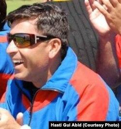 Hasti Gul Abid runs a cricket academy in Nangarhar province.