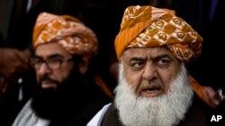 مولانا فضل الرحمن رهبر حزب حمعیت علمای اسلام پاکستان