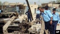 바그다드 남부 차량 폭탄 테러 현장