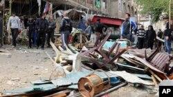 Bom nổ tại một quán cà phê ở Bayaa, khu Baghdad, 21/11/13