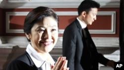 泰國總理英祿‧西那瓦(資料圖片)