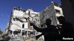Дамаск, Сирия. 20 января 2013 года