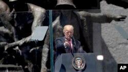 اولین سخنرانی عمومی رئیس جمهوری آمریکا در اروپا