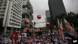 En octubre de 2017 muchos brasileños protestaron contra el plan del anterior gobierno de aumentar las privatizaciones, incluida la industria petrolera.