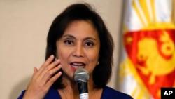 Tư liệu - Ảnh chụp ngày 5/12/2016, Phó TT Philippines Leni Robredo tại một cuộc họp báo ở tp Quezon, Manila