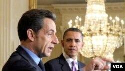 La última vez que los presidentes Sarkozy y Obama se reunieron fue durante la cumbre de la OTAN