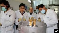 Inspektur IAEA dan insinyur Iran melakukan inspeksi di fasilitas nuklir Natanz, selatan Teheran (foto: dok).