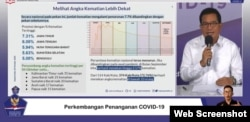 Juru Bicara Satgas Penanganan COVID-19 Prof Wiku Adisasmito dalam telekonferensi pers di Gedung BNPB, Jakarta, Kamis (8/10) mengingatkan potensi meluasnya wabah virus Corona akibat Aksi demonstrasi tolak UU Cipta Kerja (screenshoot )