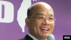 民进党主席 苏贞昌(VOA记者张永泰拍摄)