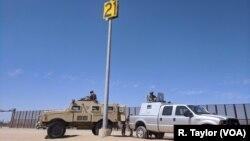 La Guardia fronteriza de EE.UU. vigila el sector de Yuma en San Luis, Arizona.