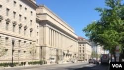 资料照片:位于华盛顿的美国商务部总部大楼。