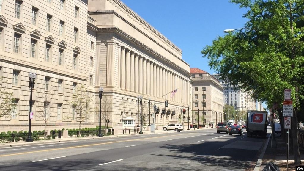 位于华盛顿的美国商务部大楼(资料照片)
