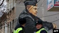 Граффити с Путиным в Симферополе