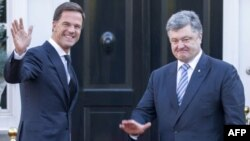 Президент Петро Порошенко з прем'єр-міністром Нідерландів Марком Рютте