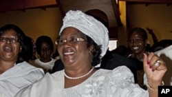 Malawian Vice President Joyce Banda attends a protest against abuse of women, in Blantyre, January 20, 2012.