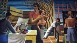 Detail from Ben Shahn Depression era mural
