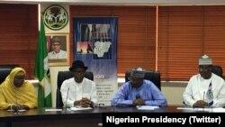 Shugaban INEC Da Daraktocin Hukumar Zaben Kasa