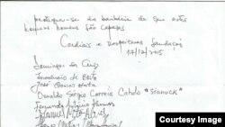Carta perdao dos activistas a Vladmiro da Piedade Parte II