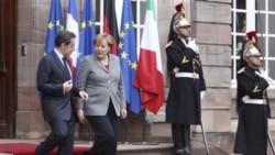 ديدار آنگلا مرکل و نيکلا سارکوزی در پاريس