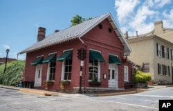 This photo shows the Red Hen Restaurant in downtown Lexington, Virginia, June 23, 2018. White House press secretary Sarah Huckabee Sanders said Saturday in a tweet that she was asked to leave the restaurant because she works for President Donald Trump.
