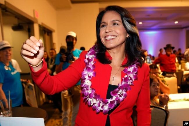 La representante de Hawái, Tulsi Gabbard, es una de las que ha presentado su intención de aspirar a la presidencia de EE.UU. en 2020.