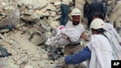 Cảnh tàn phá vì chiến tranh ở Syria