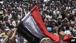 Anti-government protesters in Sana's, Yemen, April 25, 2011