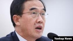 조명균 한국 통일부 장관.