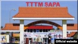 Cổng vào Trung Tâm Thương mại Sapa Praha, CH Czech (Ảnh: TV-Sapa.cz)