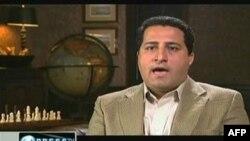 Видеозапись Шахрама Амири, показанная по иранскому телевидению