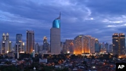Skyline of Jakarta, Capital City of Indonesia.