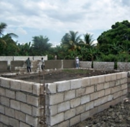 Livestock pens are built on Kiskeya Aqua Ferme, a Haiti farm.