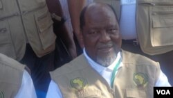 Joaquim Chissano, chefe da Missão de Observadores da União Africana