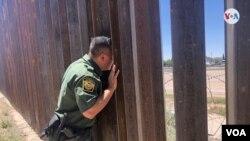 Quân đội Mexico đang giám sát biên giới giáp với El Paso, bang Texas, Hoa Kỳ, ngày 20/6/19