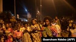 Residentes de Goma em fuga