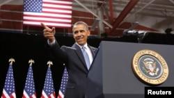 美國總統奧巴馬1月29日在拉斯維加斯一家中學就移民改革發表講話